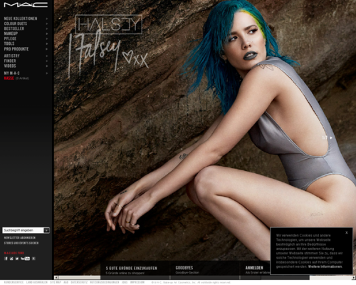MAC Cosmetics Screenshot