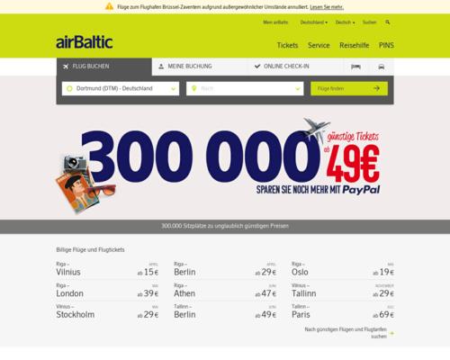 Air Baltic Screenshot