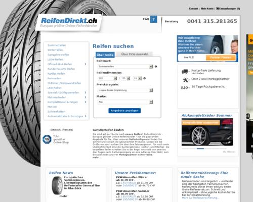 ReifenDirekt.ch Screenshot