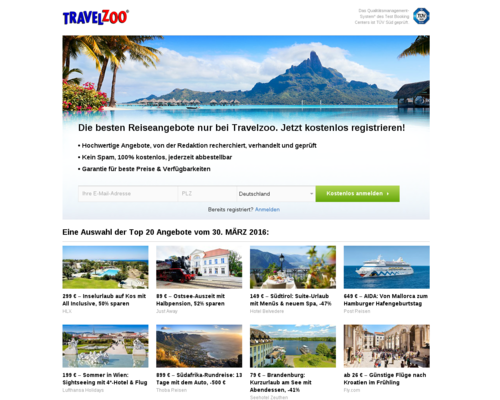 Travelzoo Screenshot