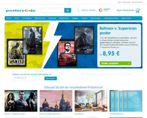 Posters.de Screenshot