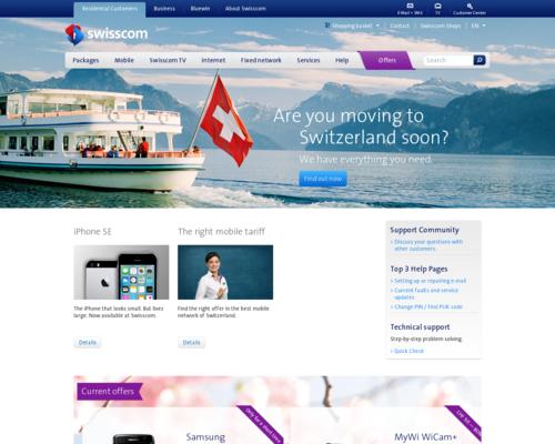 Swisscom Screenshot