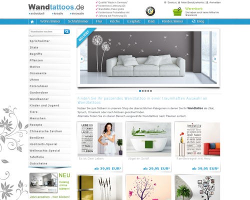 wandtattoos.de Screenshot