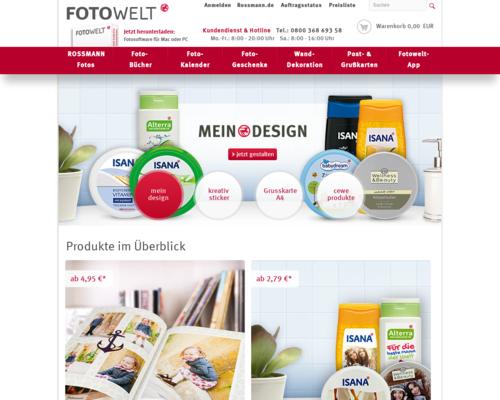 Rossmann Fotowelt Screenshot
