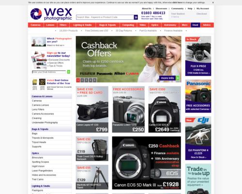 WEX Cameras Screenshot