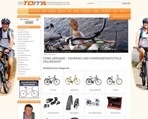 TOMA Versand Screenshot