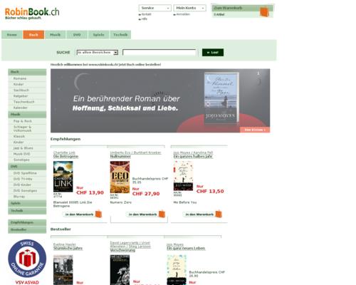 RobinBook.ch Screenshot