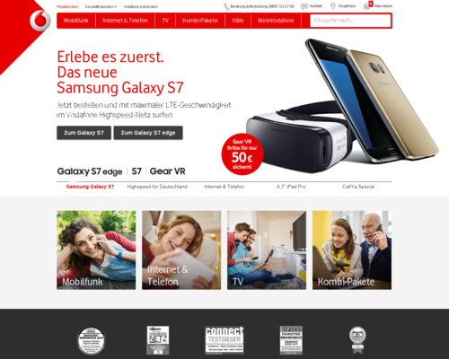 Vodafone Screenshot