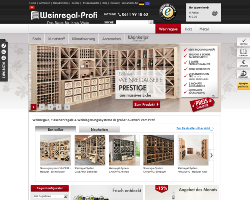 Weinregal-Profi Screenshot