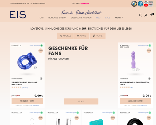 Eis.de Screenshot