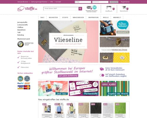 Stoffe.de Screenshot