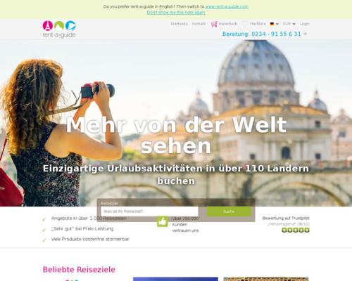 rent-a-guide.de Screenshot
