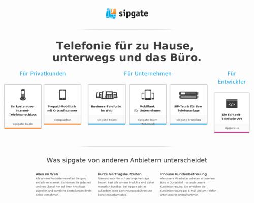 Sipgate Screenshot
