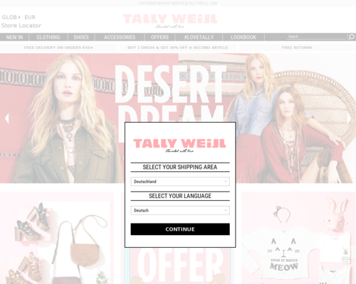 TALLY WEiJL Screenshot