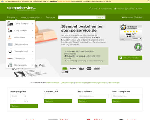Stempelservice Screenshot