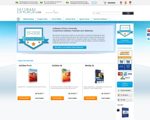 Software Choice Screenshot