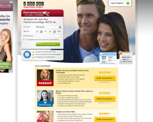partnersuche.de Screenshot