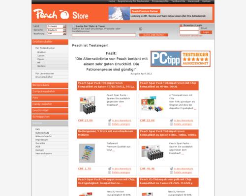 Peach Store Screenshot