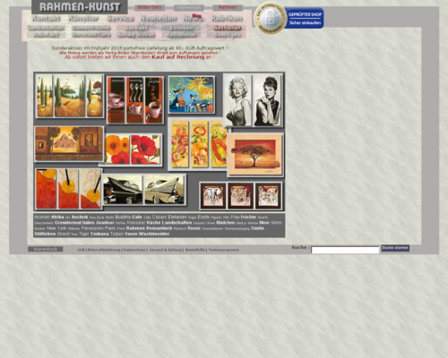 Rahmen-Kunst Screenshot