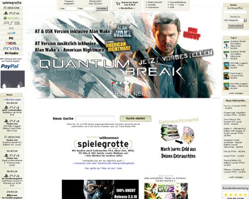 SpieleGrotte Screenshot