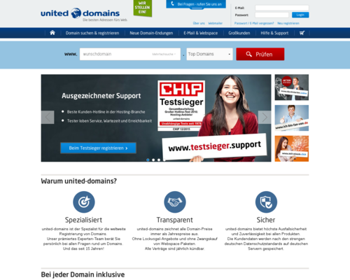united-domains Screenshot