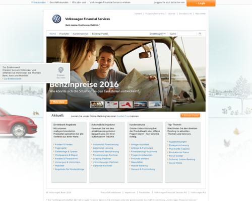 VW Bank Screenshot
