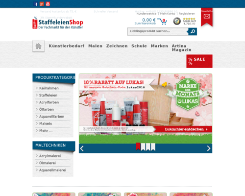Staffeleien-Shop Screenshot