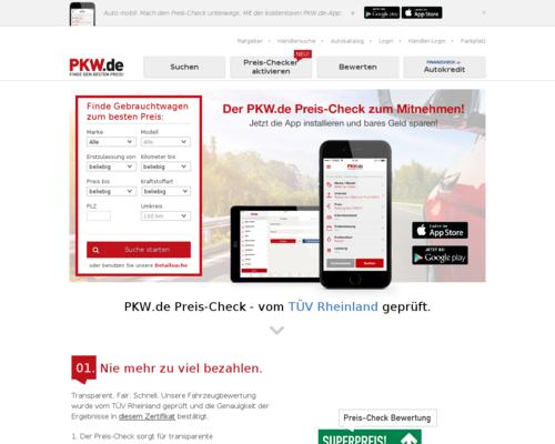 pkw.de Screenshot
