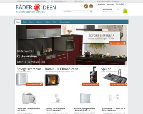 baeder-ideen.de Screenshot