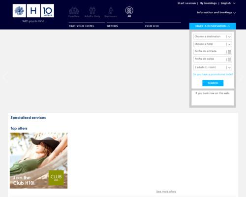 H10 Hotels Screenshot