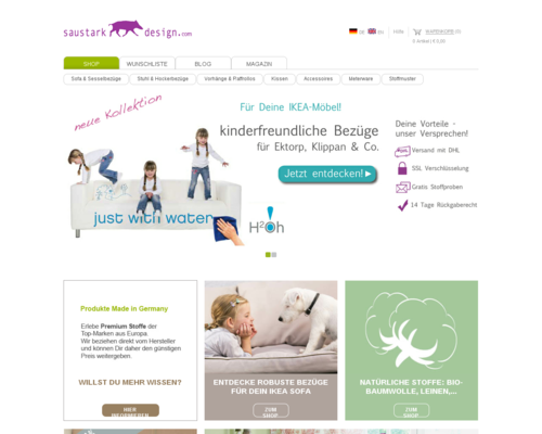Saustark Design Screenshot