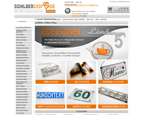 Schildershop24 Screenshot