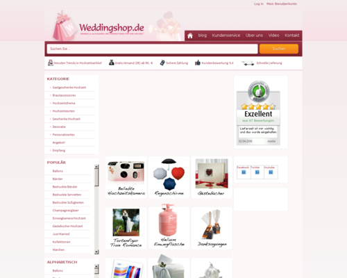 Weddingshop Screenshot
