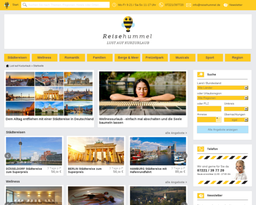 Reisehummel Screenshot