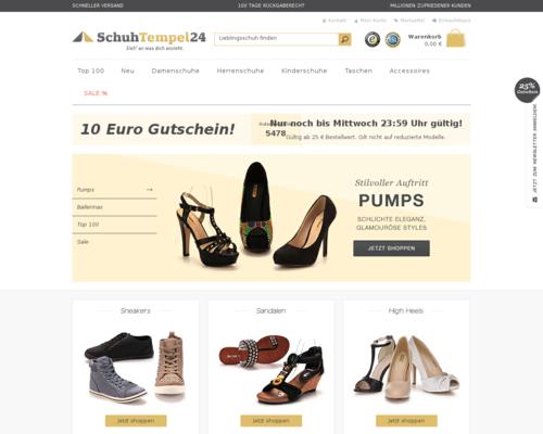SchuhTempel24 Screenshot