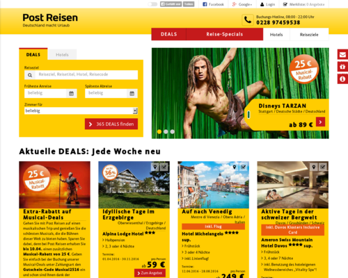 Post Reisen Screenshot
