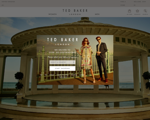Ted Baker Screenshot