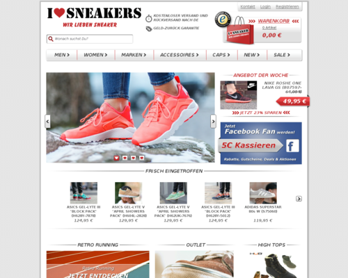 I love Sneakers Screenshot