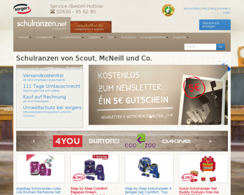 Schulranzen.net Screenshot