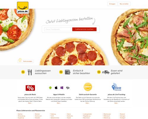 Pizza.de Screenshot