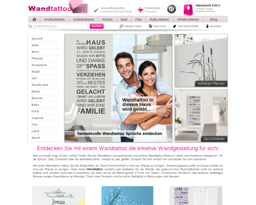 Wandtattoo.net Screenshot