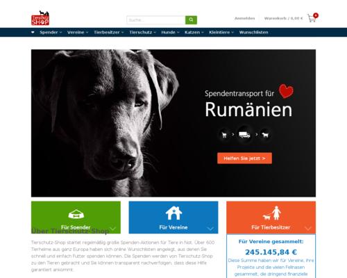 Tierschutz-Shop Screenshot