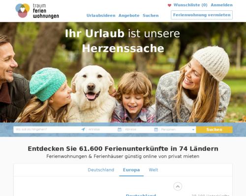 Traum-Ferienwohnungen.de Screenshot