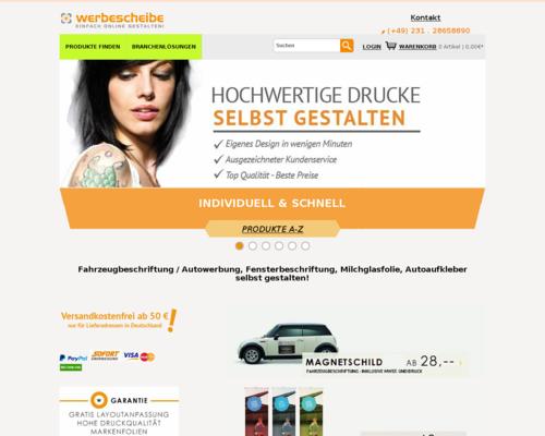 Werbescheibe Screenshot