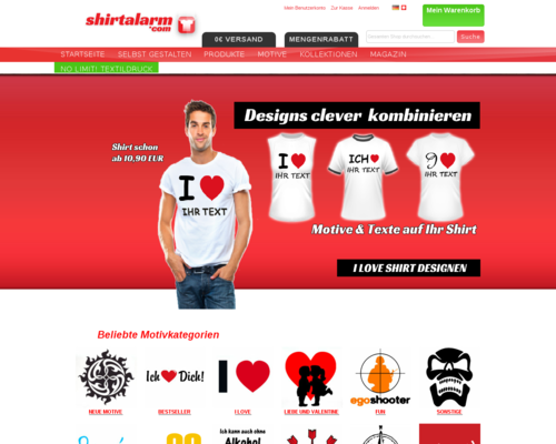 Shirtalarm Screenshot