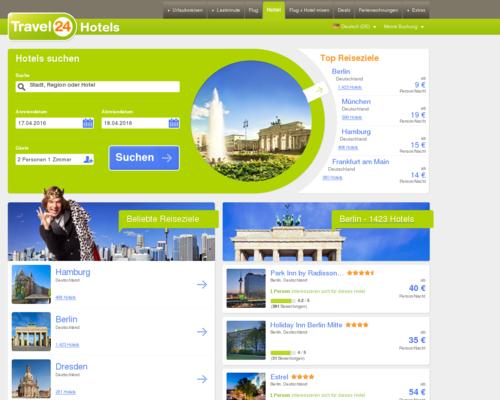 Travel24 Hotels Screenshot