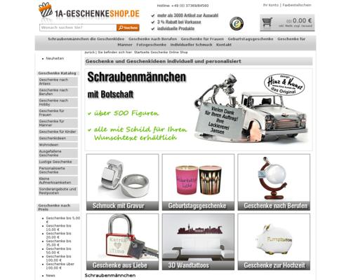 1a-Geschenkeshop Screenshot