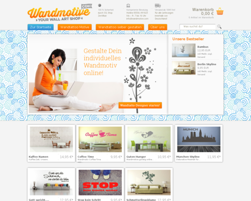 Wandmotive.com Screenshot