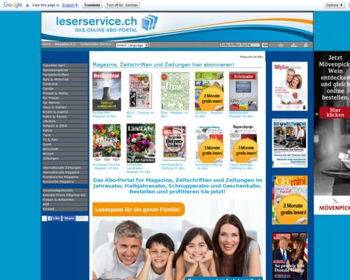 Post.ch Screenshot