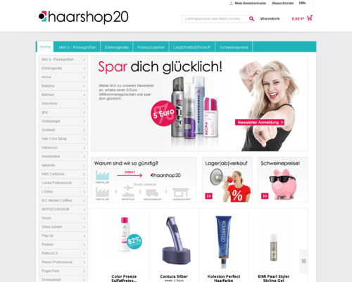 Haarshop20 Screenshot